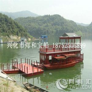 供应景区双层观光画舫木船,欧式木船,观光木船,装饰木船