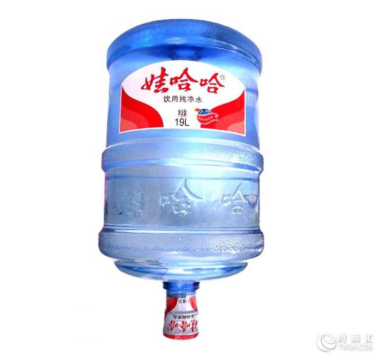 【金松水业哇哈哈纯净水桶装水深圳送水18