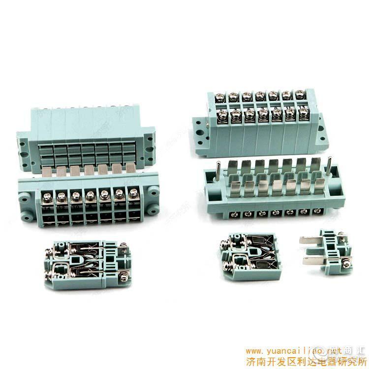 产品简介 插拔式接线端子排规格型号 CP9.5-14T/Z采用片簧结构,插头与插座分离4mm时插座自动短接。具有高可靠电接触性能,结构新颖,使用方便,特点明显,本产品可根据用户组成电流,电压端子混装产品, 主要用于电力系统继电保护控制柜,屏以及相关的电控设备及其他工业自动化控制柜上的线路连接。技术参数使用温度:-55 ~ +120; 相对湿度:40时,达95%;振 动:频率10 ~ 2000 Hz加速度147 m/s² 冲击:加速度280 m/s²绝缘电阻:常温>500 M&Omeg