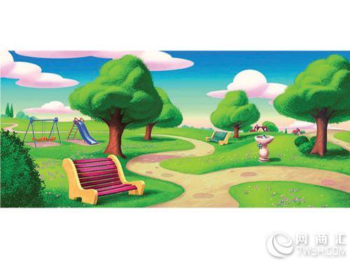 幼儿园滑梯主题画