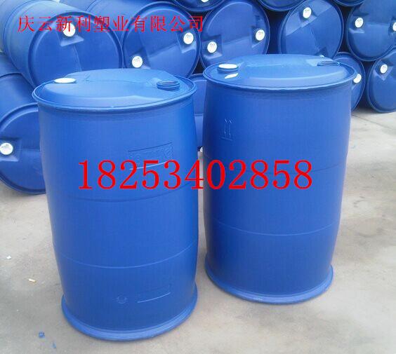 200升塑料桶200L化工桶生产厂家、 庆云新利塑业有限公司、销售热线:18253402858 1:产品介绍: 采用UHMWPE(超高分子量高密度聚乙烯)生产。供应河南优质200L双环桶200闭口塑料桶200L蓝色塑料桶具有高强度耐腐蚀,耐酸碱,抗氧化等特点,使用寿命长。使用广泛,可广泛用于化工,石油,医药,食品等行业的包装。桶盖螺纹结构简练,灌装,清洗,装卸方便,可采用集装箱运输。 2:产品主要技术参数: 密封试验:120 1秒时间内试样倾斜45?