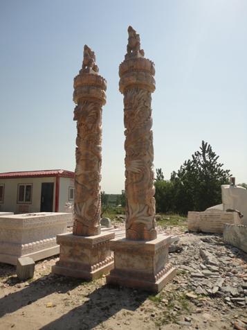 供应曲阳园林欧式罗马柱大理石柱子别墅柱顶石