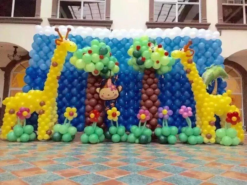 圣诞气球主题 宝宝生日主题 楼盘创意气球 气球布置