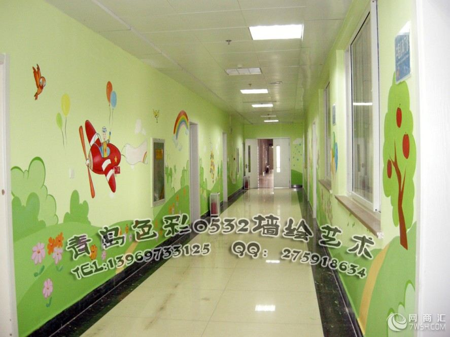 青岛幼儿园墙体彩绘 幼儿园墙绘