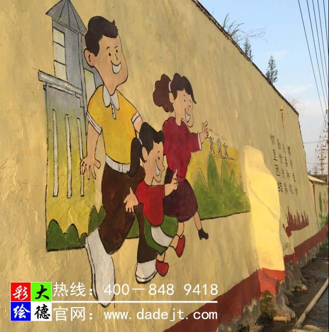 福建莆田城厢区社会主义新农村墙体彩绘