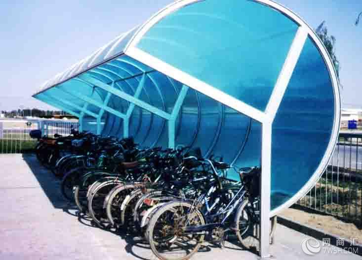 【钢结构玻璃雨棚阳光板雨棚停车场雨棚景观雨棚】