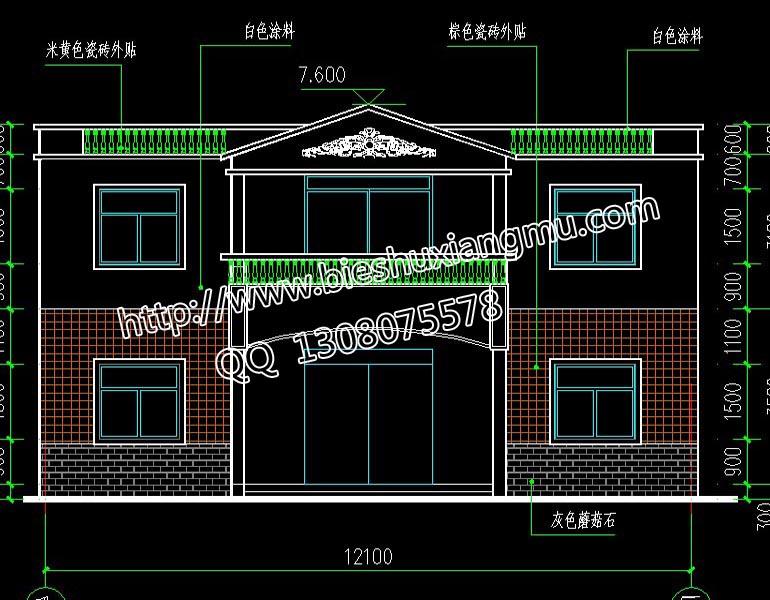 【豪华独栋三层带车库房屋外观设计效果图】-南宁市