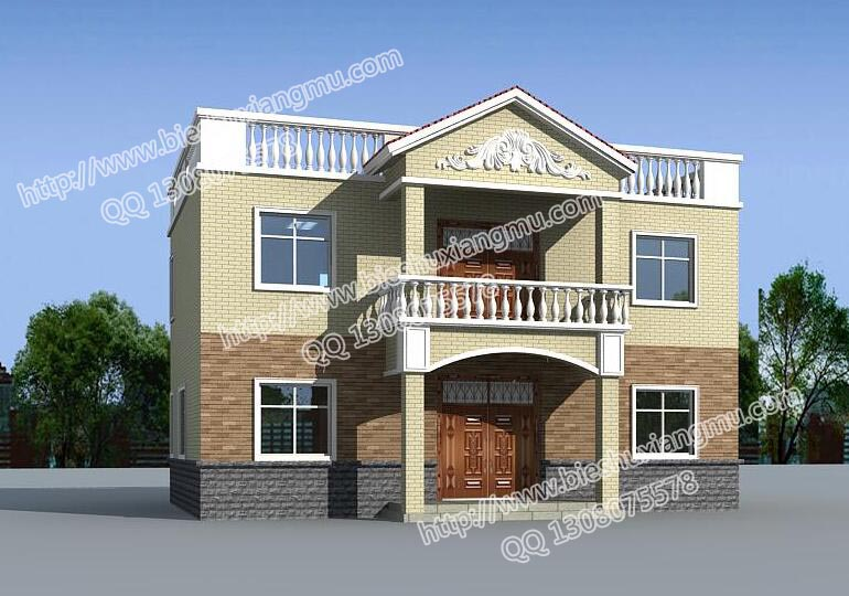 简单两层自建房农村房子设计图平房