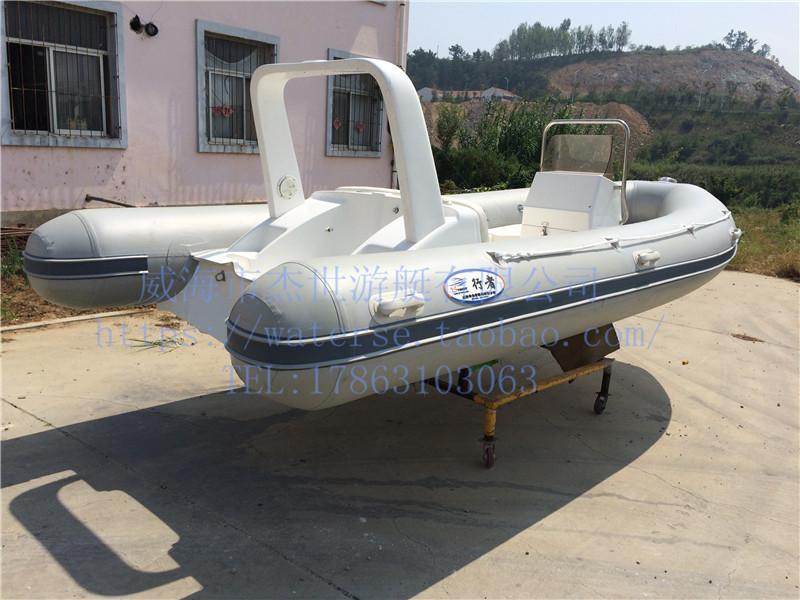 【5米灰色玻璃钢橡皮艇】-威海市杰世游艇有限公司